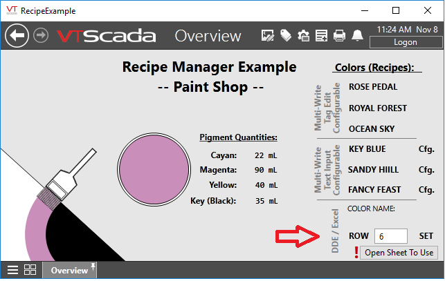Using VTSCADA as DDE Server and Excel | Support Forum